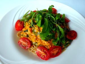volkoren zalm pasta met spinazieDSC02521