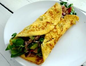 tonijn omelet wrapDSC02845