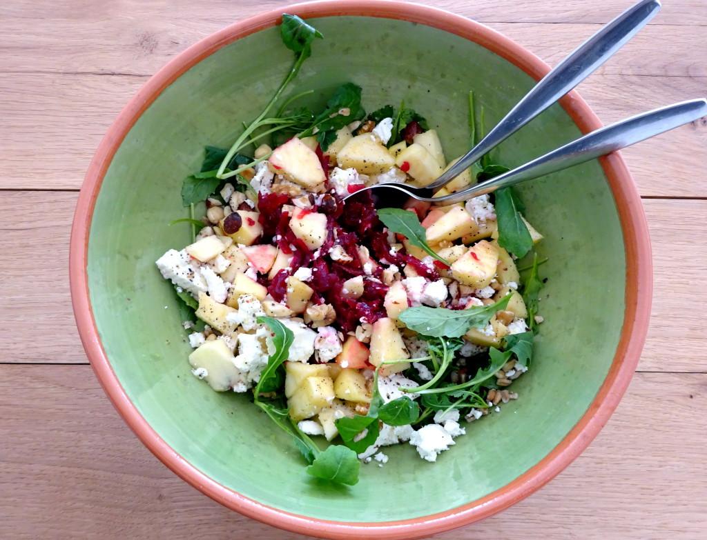 Spelt salade met biet en appelSpel salade met biet en appelDSC03934